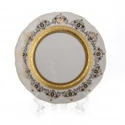 Набор тарелок «Лист белый Золото» 19см. 6шт.