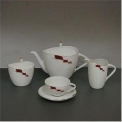Чайный сервиз «Сильвия» 6/9; (чашка низкая 150мм); декор «Арлекино»