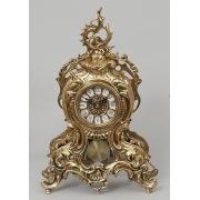 Часы с завитком, маятником золотистый 38х25 см.