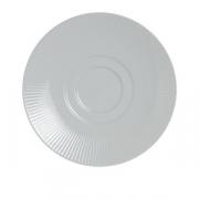 Блюдце «Соната», фарфор, D=18см, белый