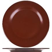 Тарелка мелкая «Шоколад» D=24, H=2см; тем. корич.