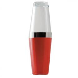 Шейкер «Бостон» со стаканом красный