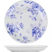 Тарелка D=15см; белый, фиолет.