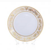 Набор тарелок «Александрия Голд/белый» 21см. 6шт.