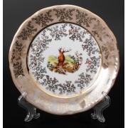 Набор тарелок «Охота медовая» 17 см. 6 шт.