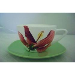 Чашка с блюдцем 0,4 л «Гибискус»