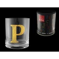 Стакан для виски (1 шт) Азбука Буква «P»