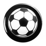 Пукли «Футбольный мяч» [12шт], пластик, черный,белый