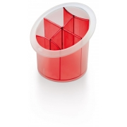 Подставка для столовых приборов красная