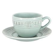 Чашка с блюдцем Venice (голубая) без инд.упаковки