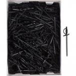 Пики для канапе «Меч» [500шт] пластик; черный