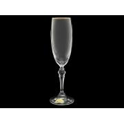 Бокал для шампанского Ларго Золотая отводка (набор 6 шт.)
