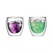 Набор термобокалов «Пилатас» [2шт], стекло, 270мл, прозр.