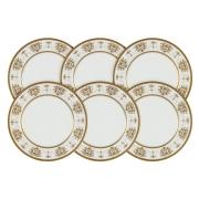 Набор из 6 десертных тарелок Тиара Голд