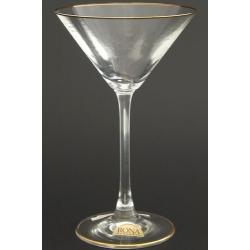 Рюмка для мартини 180 мл «Эсприт» оптика декор золотая кайма по краю рюмки и на дне рюмки