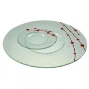 Тарелка мелк «Пирл» d=18см прозрач.