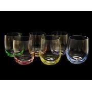 Набор стаканов для виски разноцв. дно 6 штук