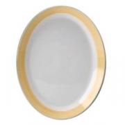 Блюдо овальное «Рио Еллоу»; фарфор; L=28см; белый,желт.