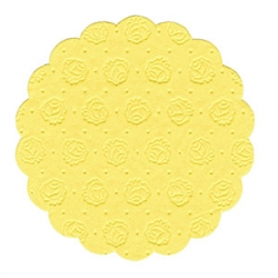 Настол. подкладки желт. d=8см 20шт