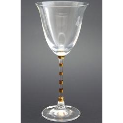 Рюмка для вина 190 мл «Гала» декорация золотом полосы на ножке