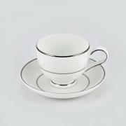 Набор 6 кофейных пар 100мл «Белый лист»
