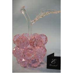 Яблоко большое розовое, прозрачный лист d 50 13х24 см