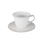 Чашка с блюдцем Винтаж (белый)