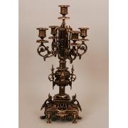 Пара канделябров 5 свечей каштан 45х22 см.
