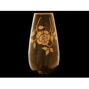 Ваза коричневая 32см «золотая роза»