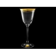 Бокал для вина Флора«Тройная полоска золотая» (набор 6 шт.)