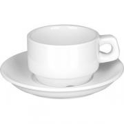 Пара кофейная «Кунстверк» фарфор; 100мл; белый