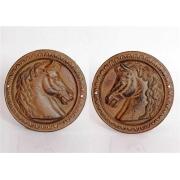 Медальоны с лошадьми 19см