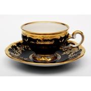 Набор кофейный мокко100 мл на 6 перс. 12 пред. подарочный «Ювел синий»