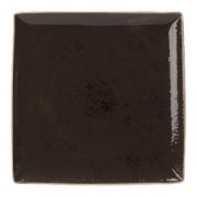 Блюдо квадр. «Крафт», фарфор, L=26.8,B=26.8см, серый