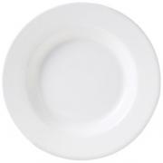 Тарелка глуб «Монако Вайт«d=22.25см фарф