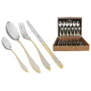 Набор столовых приборов 24 предмета на 6 персон «Geneva» в деревянной коробке.