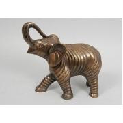 Слон сред. каштан 21х23 см.