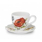 Чашка с блюдцем 16см «Ботанический сад»