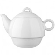 Чайник «Бола», фарфор, 300мл, D=9,H=11,L=17см, белый