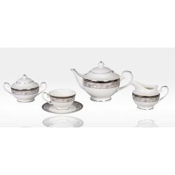 Сервиз чайный «Серебряный иней» 17 предметов на 6 персон