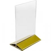 Подставка наст. для меню А5 золот. осн. H=220, L=155, B=95мм