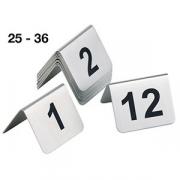 Табличка для нумер.столов с цифрами 25-36 [12шт]