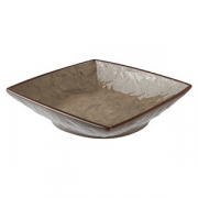 Салатник квадратный «Кунстверк», керамика, 430мл, H=4,L=16,B=16см, зелен.,коричнев.