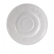 Блюдце «Торино вайт», фарфор, D=15см, белый