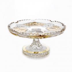 Ваза для конфет «Хрусталь с золотом 68012» 18 см.