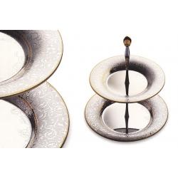 Ваза для фруктов (двухъярусная) «Dubai Gold/Silver» 40 см