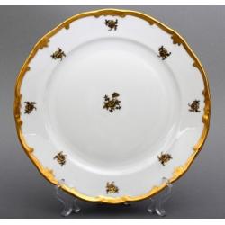 Набор тарелок 24 см. 6 шт. «Роза золотая»