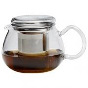 Чайник «Прити ти», стекло,нерж., 660мл, H=10.2,L=15.3,B=10.6см, прозр.,серебрян.