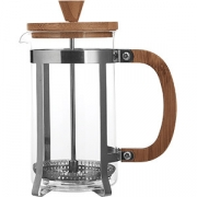 Кофейник с прессом бамбук термост. стекло, сталь нерж. ; 600мл