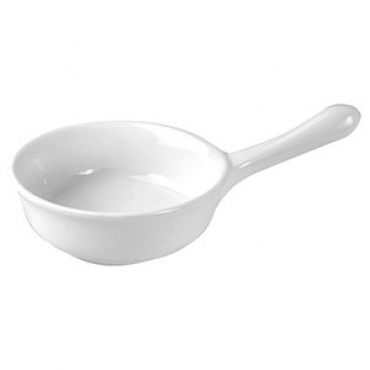 Кокотница «Кунстверк», фарфор, 115мл, D=90,H=32,L=155мм, белый